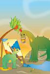 Dinosaure et sa maman