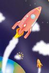 Fusée dans l'espace