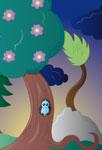 Petit oiseau en forêt
