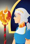 Princesse de profil
