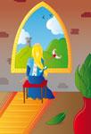 Princesse à sa fenêtre