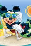 Mickey sur la plage