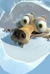 Scrat dans la glace