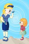 Petite fille et sa mère