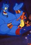 Aladdin, Abu et le génie