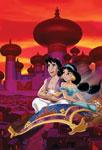 Aladdin, Jasmine et Abu devant le palais