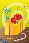 Cadeau fleuri