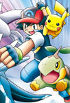 Sacha, Lugia et Pikachu