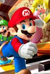 Mario, Luigi et Peach qui courent