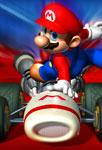 Mario sur son kart