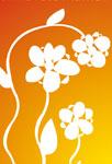 Trio de fleurs orangées
