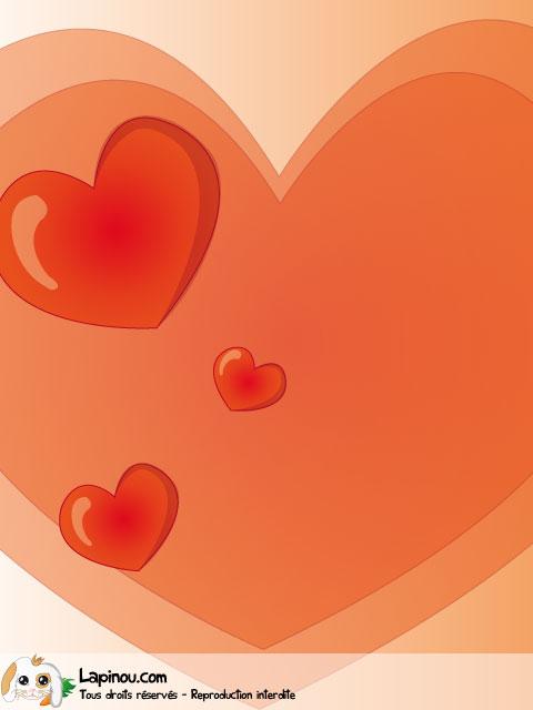 Coeurs orangés