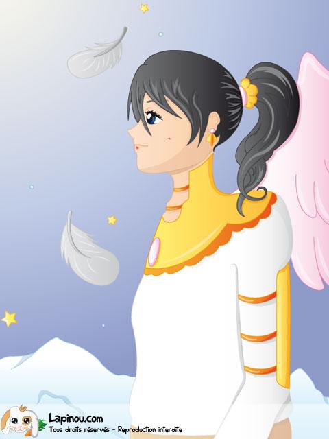 Jeune fille sous les plumes