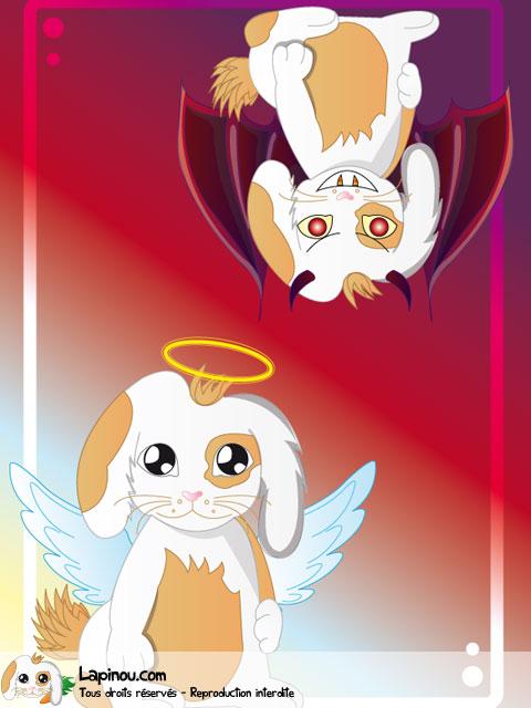 Lapinou ange et démon