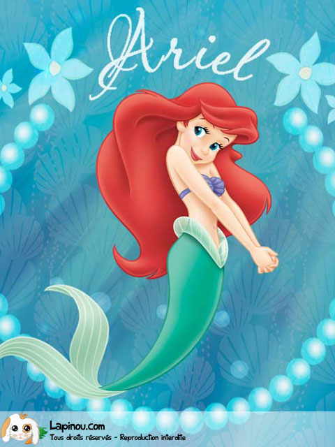 Ariel avec son prénom