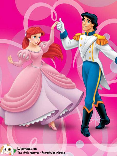 Ariel et son prince carte en ligne envoyer sur lapinou - Jeux de ariel et son prince ...
