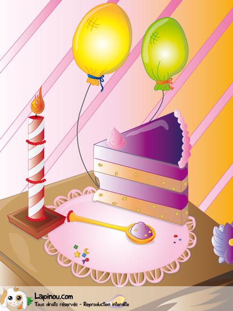Part de gâteau d'anniversaire