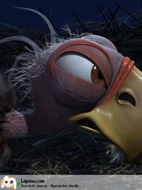 Oiseau affamé