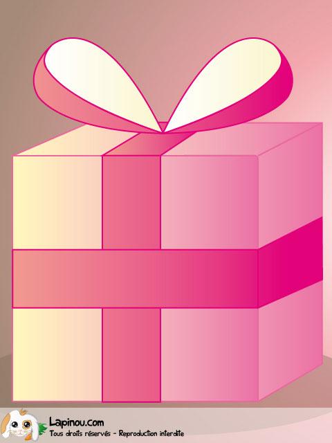 Cadeau d'anniversaire rose