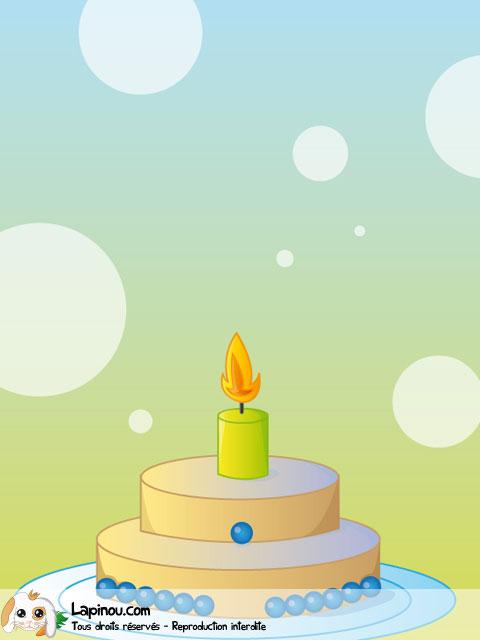 Gâteau d'anniversaire à pastilles