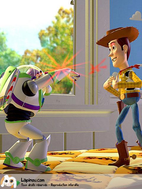 Woody et Buzz s'opposent