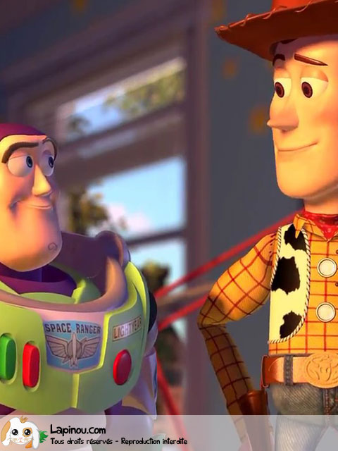 Buzz et Woody en face