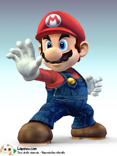 Mario prêt à combattre