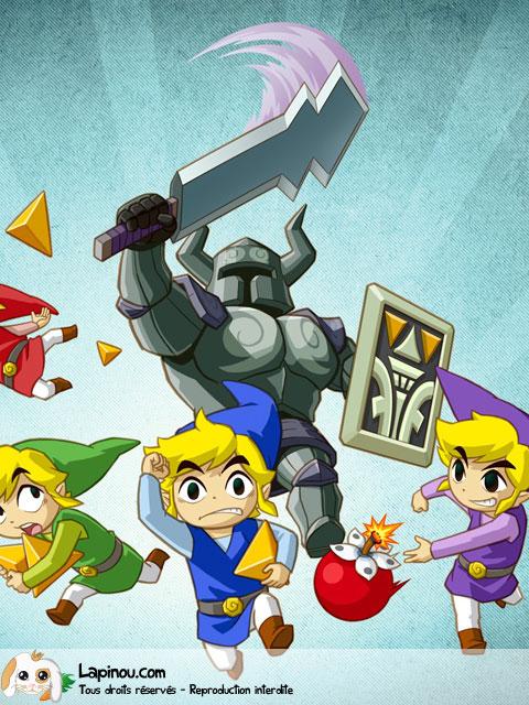 Link en train de fuir