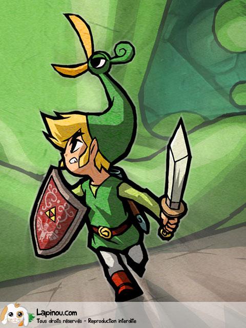 Link et son bonnet oiseau
