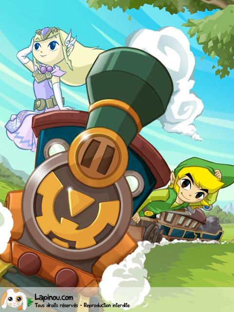 Zelda et Link sur le train