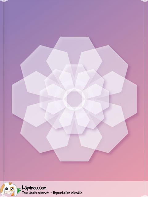 Fleur géométrique translucide