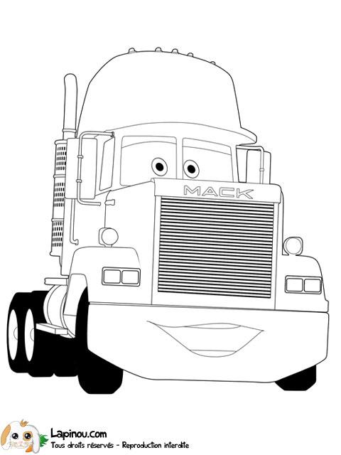 Coloriage Cars Et Mack.Mack Coloriages A Imprimer Pour Les Enfants Sur Lapinou