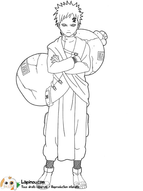 gaara coloring pages - photo#46
