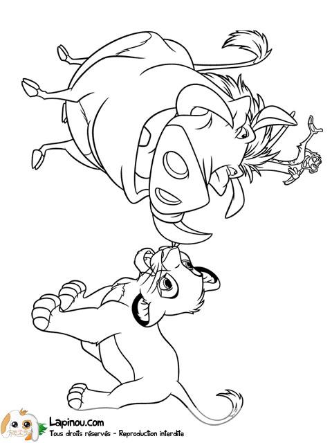 Simba et ses amis coloriages imprimer pour les enfants - Simba coloriage ...