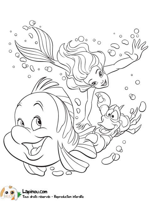 Ariel Polochon Et Sebastien Coloriages A Imprimer Pour Les Enfants Sur Lapinou