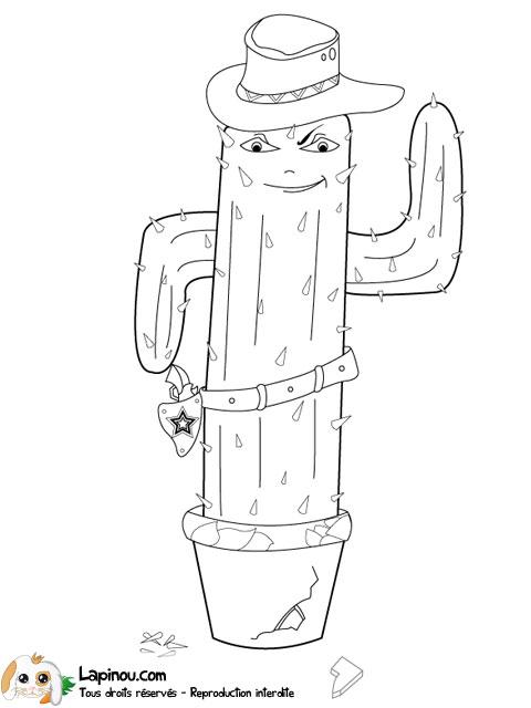 Cactus western coloriages imprimer pour les enfants - Coloriage cactus ...