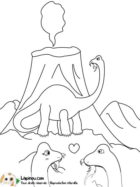 Diplodocus coloriages imprimer pour les enfants sur lapinou - Coloriage diplodocus ...