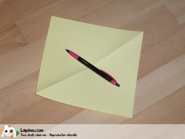 Chien en origami