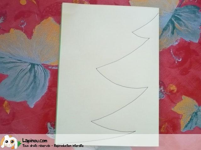 Etape 2 le dessin sapin de no l en papier - Modele sapin de noel en papier ...