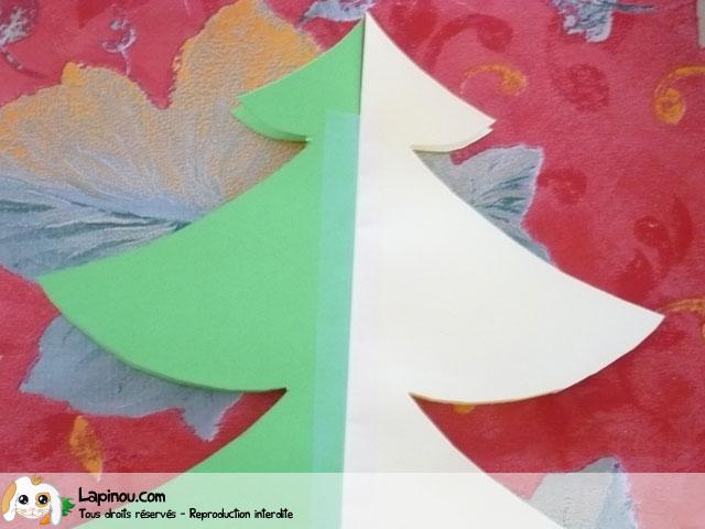 Etape 4 le collage sapin de no l en papier - Bricolage sapin de noel en papier ...