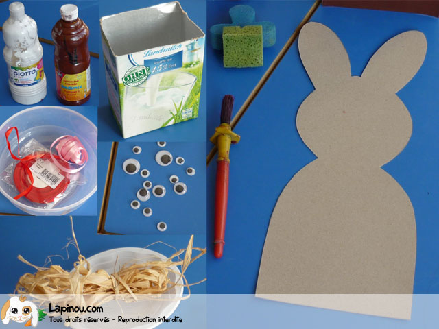 Lapin de p ques bricolages pour les enfants sur - Bricolage lapin de paques ...