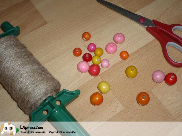 Bracelet en perles de bois