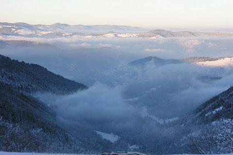 La vallée dans le brouillard