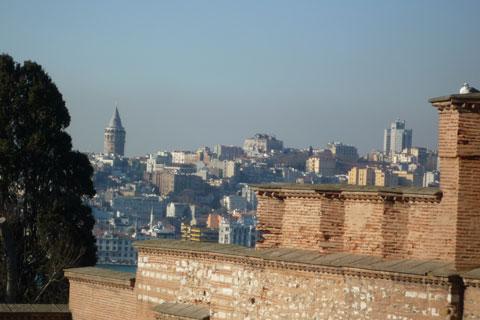 Vue des toits de Topkapi