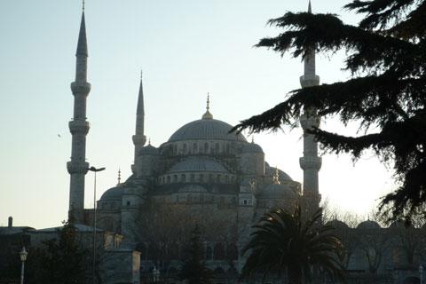 Vue sur la mosquée bleue