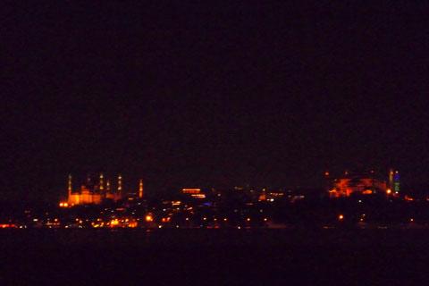 Vue de nuit de Sultanahmet