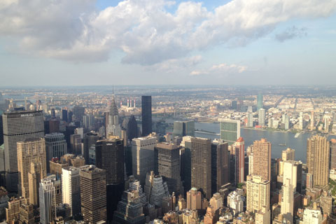 Vue vers l'Empire State Building
