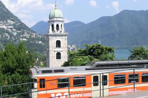 Ancien train à Lugano