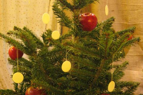 Sapin de Noël à l'ancienne