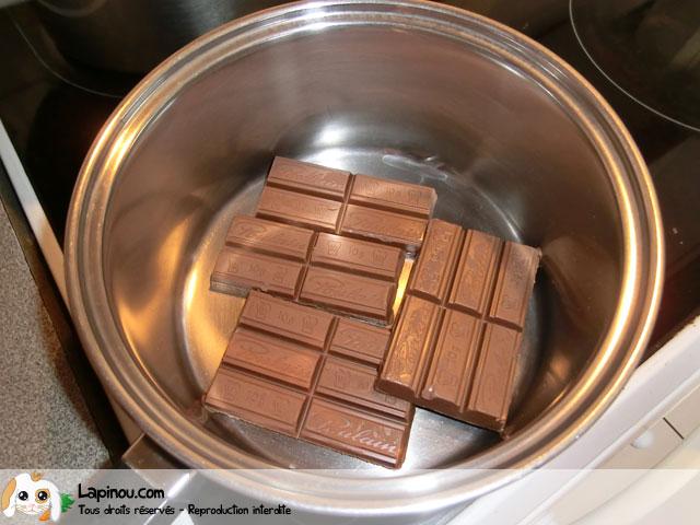Etape 1 : Le chocolat